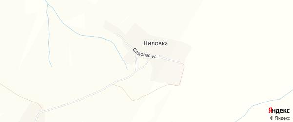 Карта поселка Ниловки в Чувашии с улицами и номерами домов