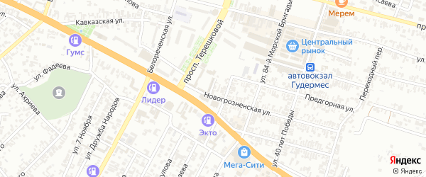 Новая улица на карте Гудермеса с номерами домов