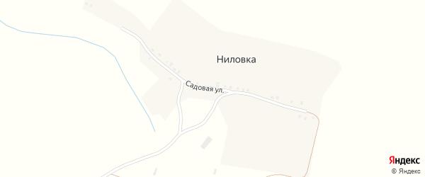 Садовая улица на карте поселка Ниловки с номерами домов