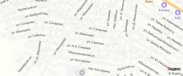 Переулок И.Махцаева на карте Гудермеса с номерами домов