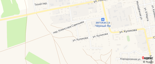 Степной переулок на карте села Черного Яра с номерами домов