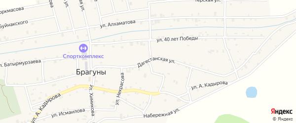 Дагестанская улица на карте села Брагунов с номерами домов