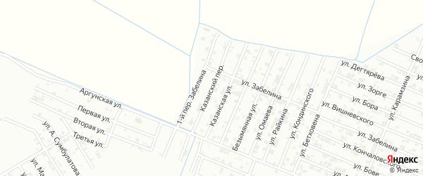 Казанский переулок на карте Гудермеса с номерами домов
