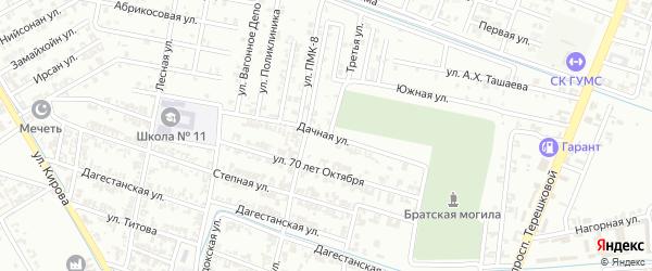 Дачная улица на карте Гудермеса с номерами домов