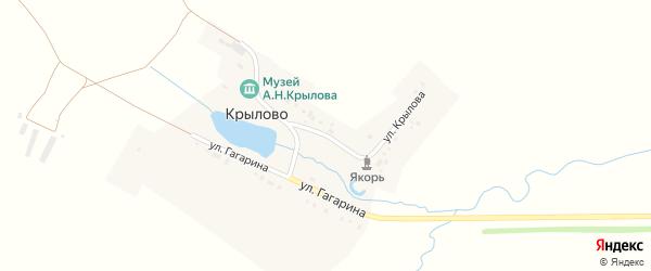 Улица Крылова на карте деревни Крылово с номерами домов