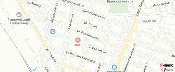 Улица 66 Авиаполка на карте Гудермеса с номерами домов