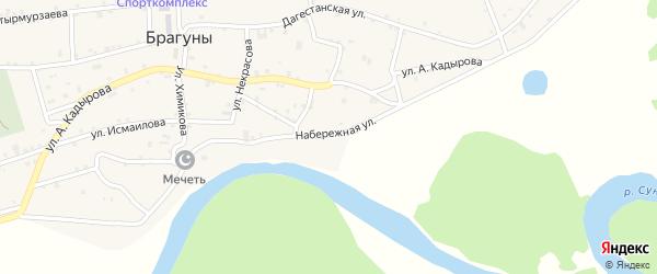 Набережная улица на карте села Брагунов с номерами домов