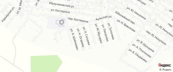 Улица Х.Сатуева на карте Гудермеса с номерами домов