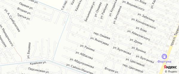 Улица Яналсаева на карте Гудермеса с номерами домов