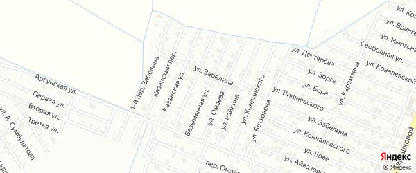 Безымянная улица на карте села Верхнего Герзель с номерами домов