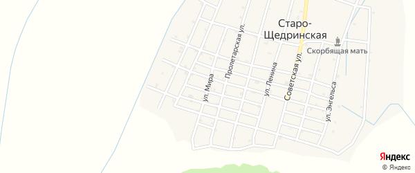 Улица Мира на карте Старо-Щедринская станицы с номерами домов