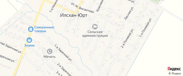 Нижняя 4-я улица на карте села Илсхан-Юрт с номерами домов