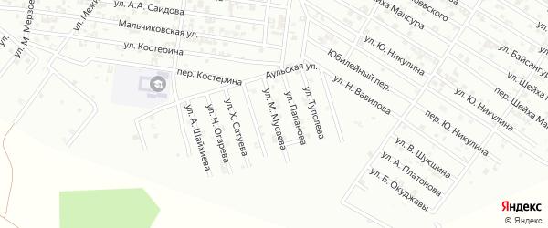 Улица М.Мусаева на карте Гудермеса с номерами домов