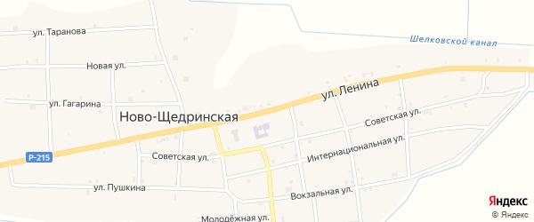 Улица Ленина на карте Ново-Щедринская станицы с номерами домов