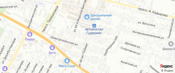 Предгорная улица на карте Гудермеса с номерами домов