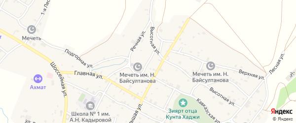 Мечетная улица на карте села Илсхан-Юрт с номерами домов