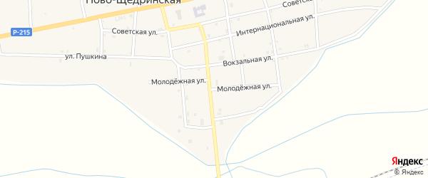 Молодежная улица на карте Ново-Щедринская станицы с номерами домов