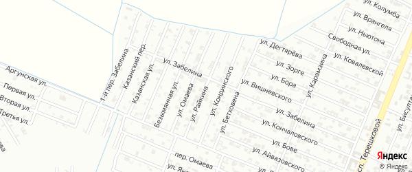 Улица Райкина на карте Гудермеса с номерами домов