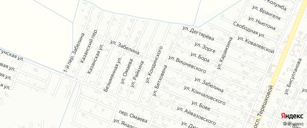 Улица Кондинского на карте Гудермеса с номерами домов