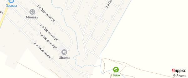 Лесная 2-я улица на карте села Илсхан-Юрт с номерами домов