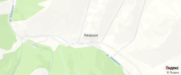 Карта села Хварш в Дагестане с улицами и номерами домов
