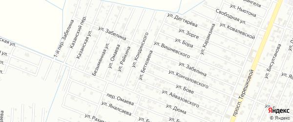 Улица Бетховена на карте Гудермеса с номерами домов
