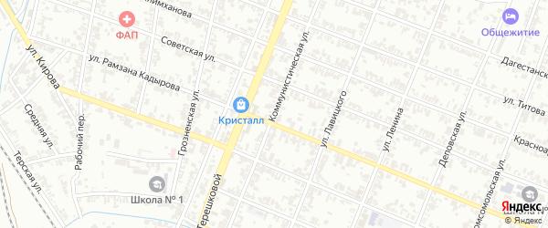 Коммунистическая улица на карте села Нижний-Нойбер с номерами домов