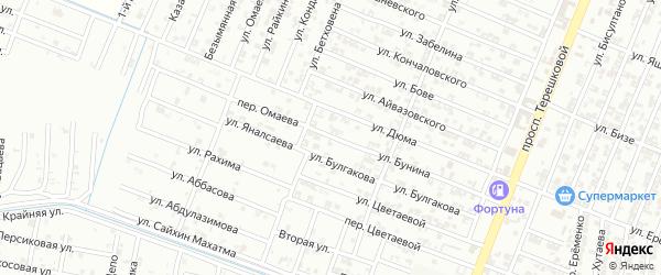 Улица Бунина на карте Гудермеса с номерами домов