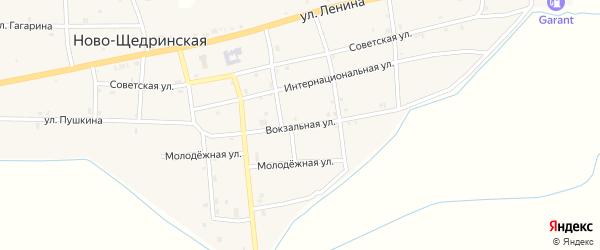 Вокзальная улица на карте Ново-Щедринская станицы с номерами домов