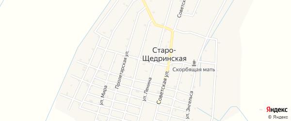 Улица Николаева на карте Старо-Щедринская станицы с номерами домов