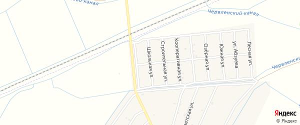 Школьная улица на карте Старо-Щедринская станицы с номерами домов