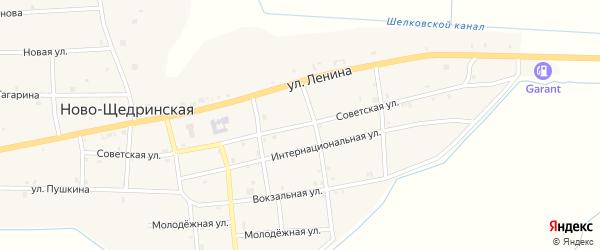 Советская улица на карте Ново-Щедринская станицы с номерами домов