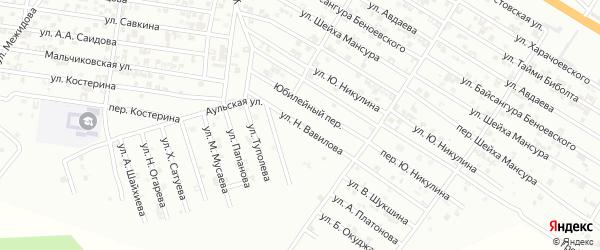 Улица Н.Вавилова на карте Гудермеса с номерами домов
