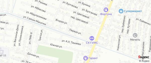 Первая улица на карте Гудермеса с номерами домов