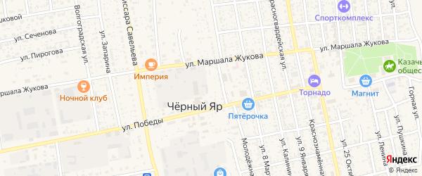Животноводческая точка Манджиково на карте села Черного Яра с номерами домов