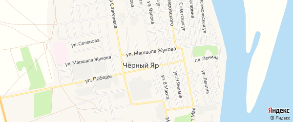 СТ СДТ Рассвет на карте села Черного Яра с номерами домов