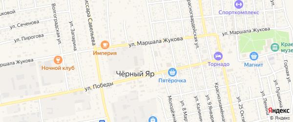 Животноводческая точка Семибугры на карте села Черного Яра с номерами домов