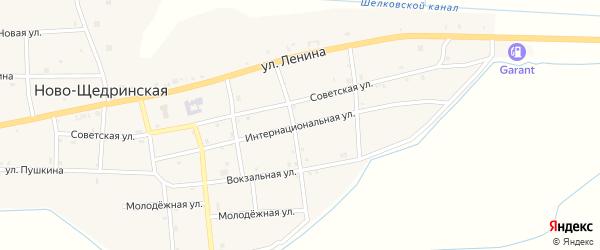 Интернациональная улица на карте Ново-Щедринская станицы с номерами домов