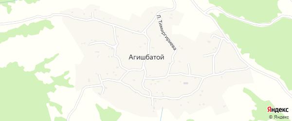 Улица Ю.Исраилова на карте села Агишбатого с номерами домов