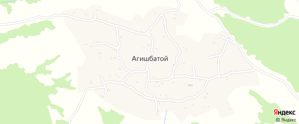Улица А.Исраилова на карте села Агишбатого с номерами домов
