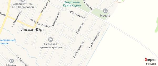 Улица Байсангурова на карте села Илсхан-Юрт с номерами домов