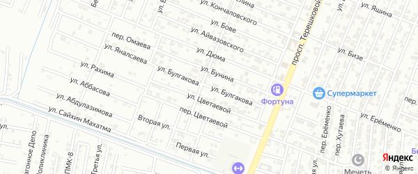 Улица Булгакова на карте Гудермеса с номерами домов
