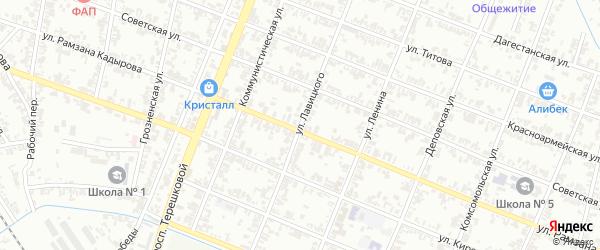Улица Лавицкого на карте Гудермеса с номерами домов