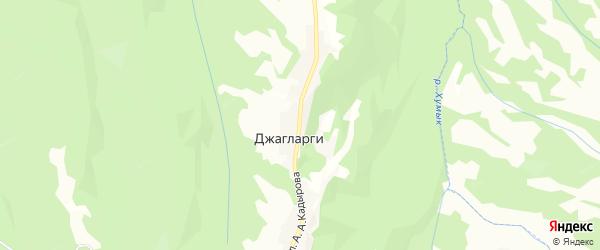 Карта села Джагларги в Чечне с улицами и номерами домов