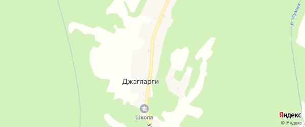 Центральная улица на карте села Джагларги с номерами домов