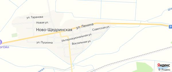 Карта Ново-Щедринская станицы в Чечне с улицами и номерами домов