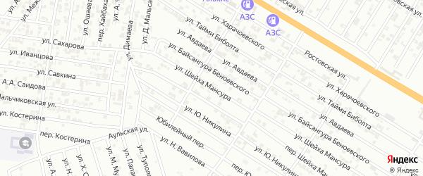 Улица Ш.Мансура на карте Гудермеса с номерами домов