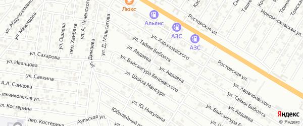 Улица А.Идрисова на карте Гудермеса с номерами домов