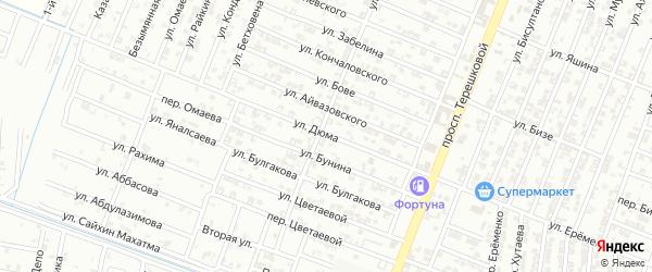 Переулок Дюма на карте Гудермеса с номерами домов