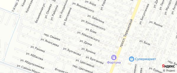 Улица Айвазовского на карте Гудермеса с номерами домов